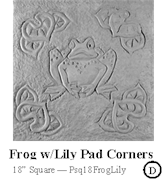 Frog with Lily Pad Corners