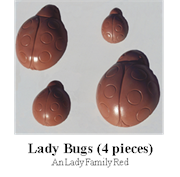 Lady Bugs 4 pieces