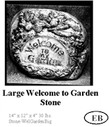 Large Welcome Garden Stone