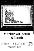 Marker with Cherub and Lamb