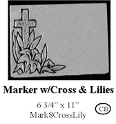 Marker with Cross and Lilies