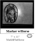 Marker with Horse