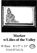 Marker with Lilies of the Valley
