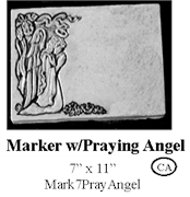 Marker with Praying Angel