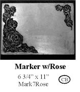 Marker with Rose