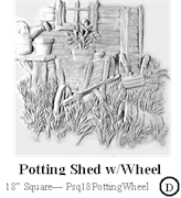 Potting Shed with Wheel