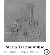 Steam Tractor with Disc