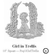 Girl in Trellis