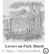 Lovers on Park Bench