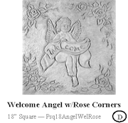 Welcome Angel with Rose Corners