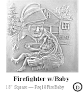 Firefighter with Baby