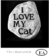 I Love My Cat Stone