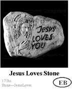 Jesus Loves Stone