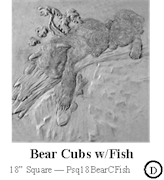 Bear Cubs and Fish