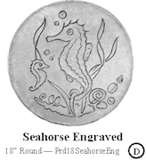 Seahorse Engraved