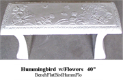 Bench - Hummingbird with Flowers 40