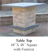 Patio Table 48x48 Square and Footrest